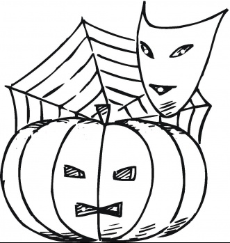 Halloween coloring book pictures